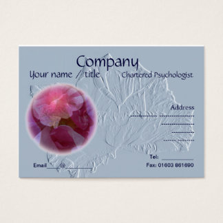 Embossed look rose business card