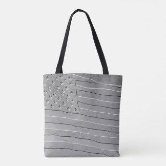 Embossed looking American flag Tote Bag