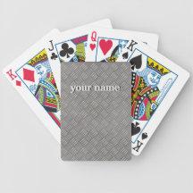 Embossed Metal Look Personalised Playing Cards