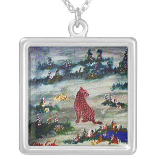 Embossed Painting Necklace