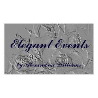 """""""Embossed Roses in Gray"""" Pack Of Standard Business Cards"""