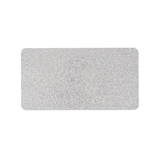 Embossed silver address label