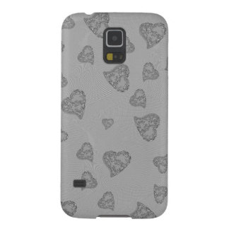 Embossed Silver Mini Hearts Cases For Galaxy S5