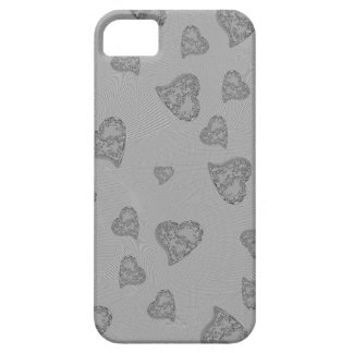 Embossed Silver Mini Hearts iPhone 5 Cases
