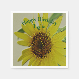 Embossed Sunflower Custom Event Party Disposable Napkin