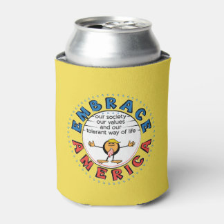 EMBRACE AMERICA President Trump Caricature Can Cooler