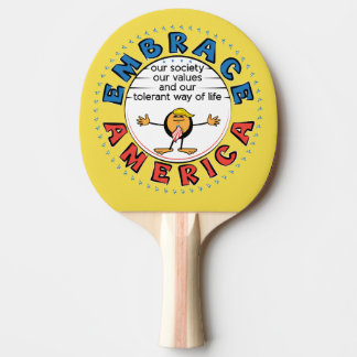 EMBRACE AMERICA President Trump Caricature Ping Pong Paddle