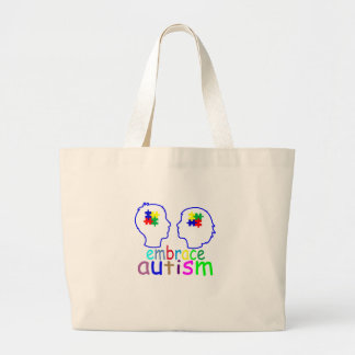 Embrace Autism . Large Tote Bag