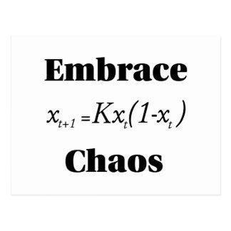 Embrace Chaos Postcard