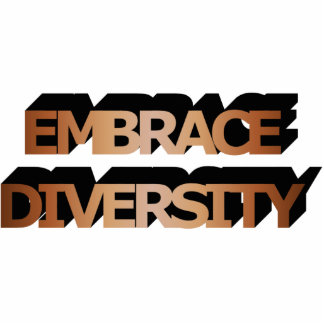 Embrace Diversity (Brown) Photo Sculpture
