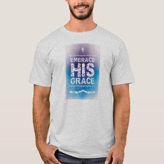 'Embrace HIS Grace' Men's T-Shirt - Gray