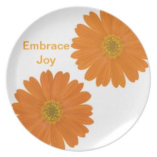 Embrace Joy Daisies Plates