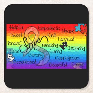 Embrace Love Square Paper Coaster