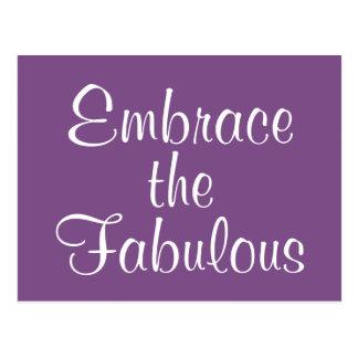 Embrace the Fabulous Postcard