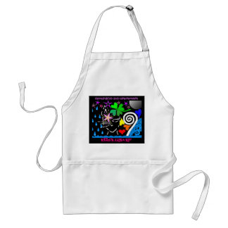 """Embrace the Unknown: Cosmic Black Cat"" Apron"