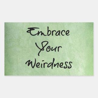 Embrace Your Weirdness Rectangular Sticker