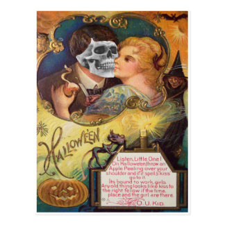 Embracing Death (Vintage Halloween Card) Postcard