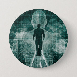 Embracing New Technology of the Future as Art 7.5 Cm Round Badge