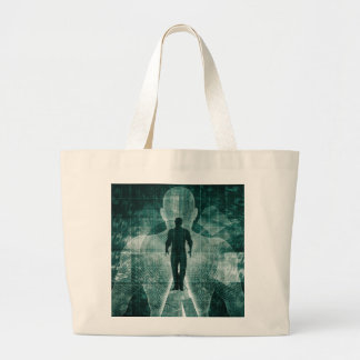 Embracing New Technology of the Future as Art Large Tote Bag