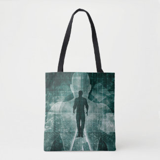 Embracing New Technology of the Future as Art Tote Bag