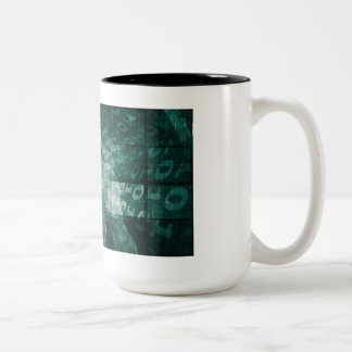 Embracing New Technology of the Future as Art Two-Tone Coffee Mug