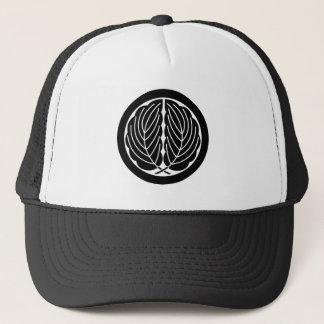 Embracing oak leaves in circle trucker hat
