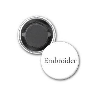 Embroider 3 Cm Round Magnet