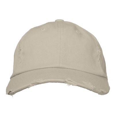 Embroider your own Distressed Cap Embroidered Cap