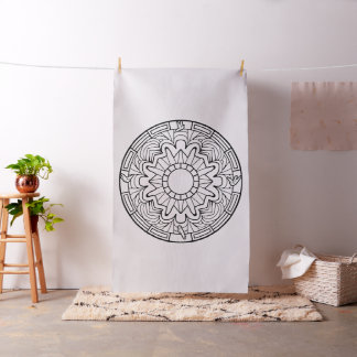 Embroider Your Own Doves Mandala Fabric