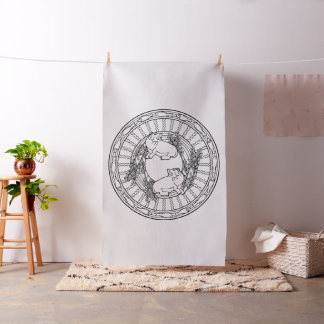 Embroider Your Own Hippopotamus Mandala Fabric