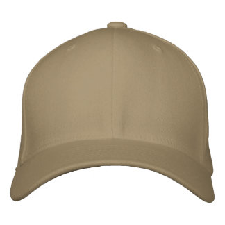 Embroider your own Khaki Flexfit Wool Cap Embroidered Hats