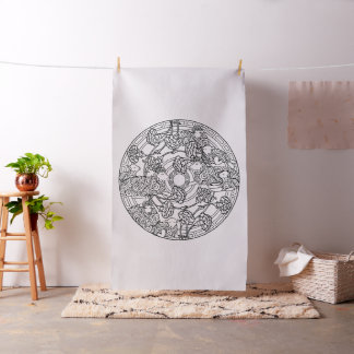 Embroider Your Own Lambs Sheep Mandala Fabric