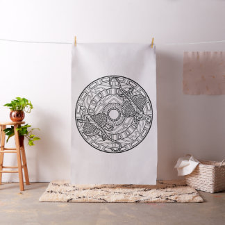 Embroider Your Own Lizard Mandala Fabric