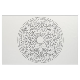 Embroider Your Own Mandala Fabric