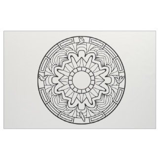 Embroider Your Own Mandala Fabric Doves