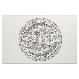 Embroider Your Own Sheep Mandala Fabric