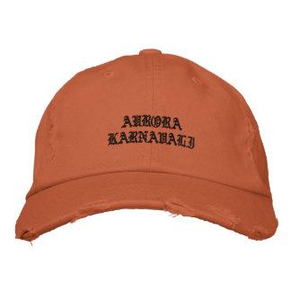 Embroidered Aurora Karnavali Cap Rust Orange