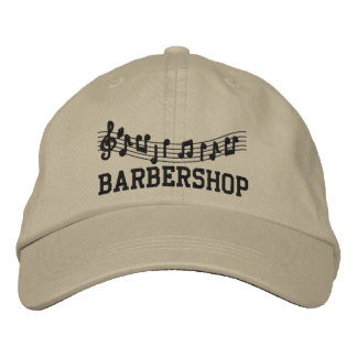 Embroidered Barbershop Music Cap