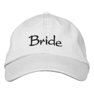 Embroidered Bride Cap Embroidered Baseball Cap