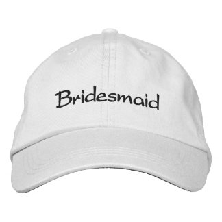 EMBROIDERED BRIDESMAID WEDDING CAP EMBROIDERED HAT