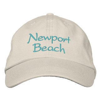 Embroidered California hats. Newport Beach Embroidered Hat