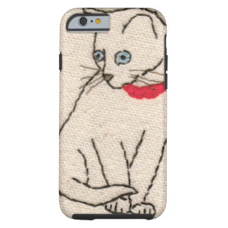 Embroidered cat iPhone 6 tough case