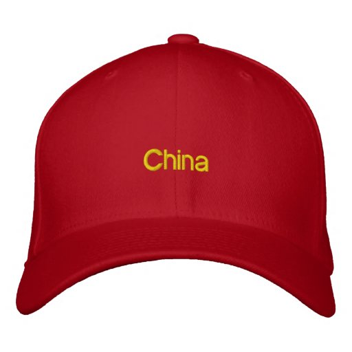 Embroidered China Hat Embroidered Baseball Caps