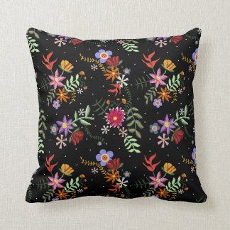 Embroidered cushion Folk