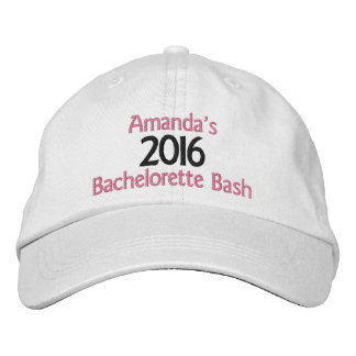 Embroidered Customized Bachelorette Bash Hat Embroidered Baseball Cap
