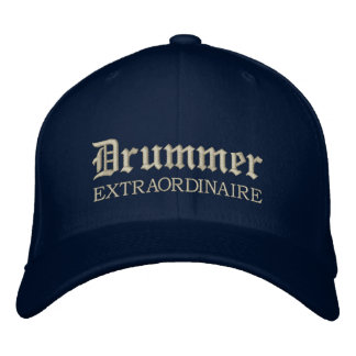 Embroidered Drummer Extraordinaire Music Cap Embroidered Baseball Caps