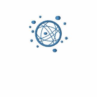 Embroidered Globe Blue Polo Shirt