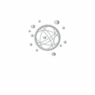 Embroidered Globe Grey Polo