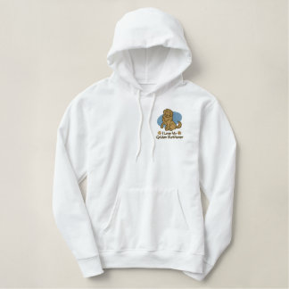 Embroidered Golden Retriever Hoodie