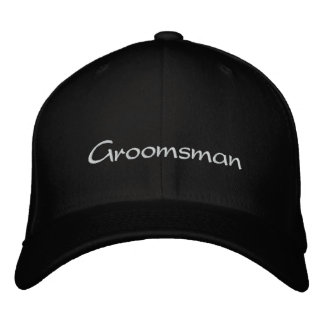 EMBROIDERED GROOMSMAN WEDDING CAP EMBROIDERED CAP